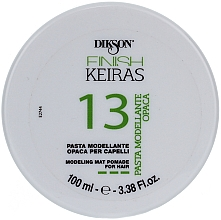 Fragrances, Perfumes, Cosmetics Modeling Matte Hair Paste - Dikson Finish Keiras Pasta Modellante Opaca 13
