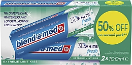 """Fragrances, Perfumes, Cosmetics Toothpaste Set """"3D White"""" - Blend-a-med 3D White Fresh Extreme Mint Kiss"""