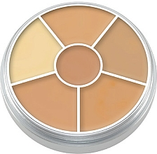 Fragrances, Perfumes, Cosmetics Face Concealer Palette 6 Colors - Kryolan Concealer Circle