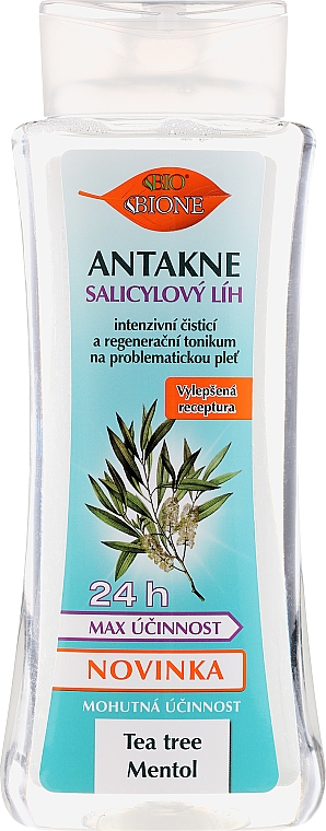 Facial Salicylic Alcohol - Bione Cosmetics Antakne Salicylic Spirit Tea Tree and Menthol