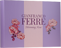 Gianfranco Ferre Blooming Rose - Set (edt/50ml + b/lotion/100ml) — photo N1