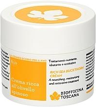 Fragrances, Perfumes, Cosmetics Nourishing Body Cream - Biofficina Toscana Rich Sea Buckthorn Cream