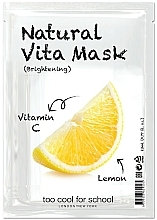"Fragrances, Perfumes, Cosmetics Brightening Facial Night Mask ""Lemon"" with Vitamin C - Too Cool For School Natural Vita Mask Brightening"