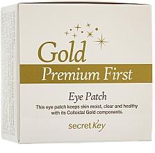 Fragrances, Perfumes, Cosmetics Eye Contour Face Mask - Secret Key Gold Premium First Eye Patch