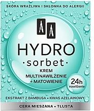 Fragrances, Perfumes, Cosmetics Moisturising & Mattifying Face Cream - AA Hydro Sorbet Moisturising & Mattifying Cream