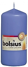Fragrances, Perfumes, Cosmetics Cylindrical Candle, blue, 120/58 mm - Bolsius Candle