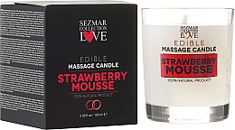 "Fragrances, Perfumes, Cosmetics Natural Massage Candle ""Strawberry"" - Sezmar Collection"