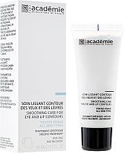 Fragrances, Perfumes, Cosmetics Eye and Lip Contour Cream Mask - Academie Smoothing Care for Eye and Lip Contours