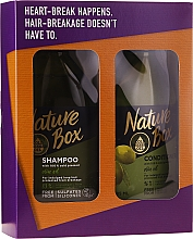 Fragrances, Perfumes, Cosmetics Set - Nature Box Olive Oil Set (shmp/385ml + cond/385ml)