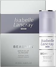 Fragrances, Perfumes, Cosmetics Regenerating Eye Serum - Isabelle Lancray Beaulift Radiant Eye Creamy Serum
