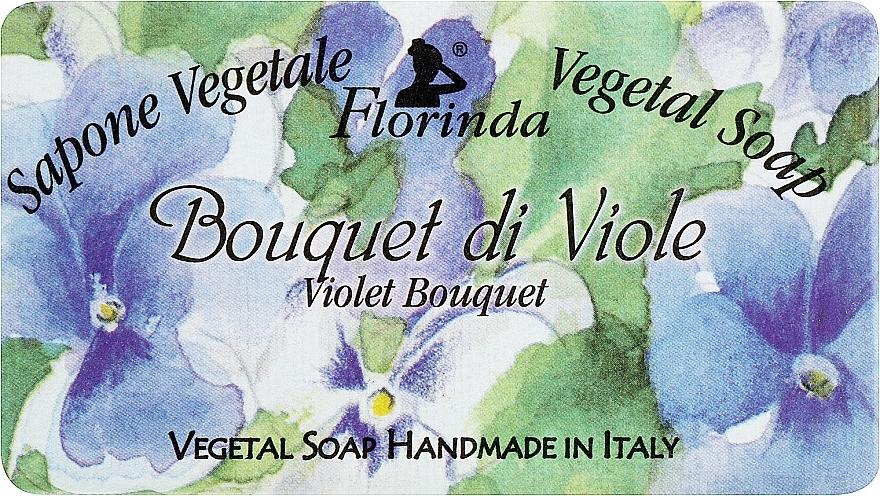 """Natural Soap """"Violet Bouquet"""" - Florinda Sapone Vegetale Vegetal Soap Violet Bouquet"""