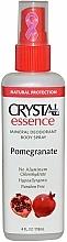 Fragrances, Perfumes, Cosmetics Deodorant Spray with Pomegranate Scent - Crystal Essence Deodorant Body Spray Pomegranate