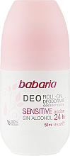 Fragrances, Perfumes, Cosmetics Roll-On Deodorant - Babaria Deo Roll-On Deodorant Sensitive