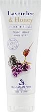 "Fragrances, Perfumes, Cosmetics Foot Cream ""Lavender & Honey"" - Bulgarian Rose Lavender And Honey Foot Cream"