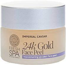 Fragrances, Perfumes, Cosmetics Golden Face Peel - Natura Siberica Fresh Spa Imperial Caviar Rejuvenating Golden Face Peel 24K Gold