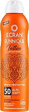 Fragrances, Perfumes, Cosmetics After Sun Spray - Ecran Sunnique Tattoo Protective Mist SPF50