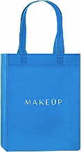 "Fragrances, Perfumes, Cosmetics Shopping Bag, blue ""Springfield"" - MakeUp Eco Friendly Tote Bag"