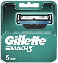 Fragrances, Perfumes, Cosmetics Replaceable Shaving Cassettes, 5pcs - Gillette Mach3