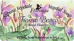"Fragrances, Perfumes, Cosmetics Natural Soap ""Wood Flowers"" - Florinda Sapone Vegetale Vegetal Soap Wood Flowers"