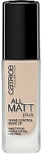 Fragrances, Perfumes, Cosmetics Mattifying Foundation Base - Catrice All Matt Plus Shine Control Make Up