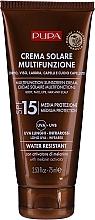Fragrances, Perfumes, Cosmetics Moisturizing Sunscreen Cream SPF 15 - Pupa Multifunction Sunscreen Cream
