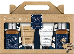 Fragrances, Perfumes, Cosmetics Ginget & Lime Shower Set - Baylis & Harding Fuzzy Duck Men's Ginger & Lime Four Piece Set (sh/gel/50ml + ash/balm/50ml + shm/100ml + h/b/gel/100ml)