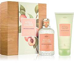 Fragrances, Perfumes, Cosmetics Maurer & Wirtz 4711 Aqua Colognia White Peach & Coriander - Set (col 170ml +sh/gel/200ml)