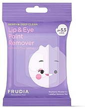 Fragrances, Perfumes, Cosmetics Eye and Lip Makeup Remover Micellar Wipes - Blueberry Micellar 5.5 Lip & Eye Remover Pad