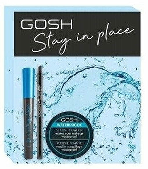 Set - Gosh Stay In Place (mascara/8ml + powder/7g + liner/0.35g)