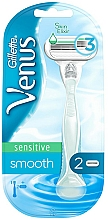 Fragrances, Perfumes, Cosmetics Razor with 2 Replaceable Cartridges, blue - Gillette Venus Smooth Sensitive