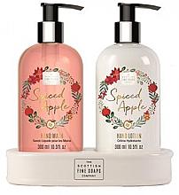 Fragrances, Perfumes, Cosmetics Set - Scottish Fine Soaps Spiced Apple (liquid soap/300ml + hand/lotion/300ml)
