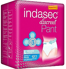Fragrances, Perfumes, Cosmetics Sanitary Napkins, 12 pcs - Indasec Discreet Pant Plus
