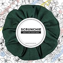 "Fragrances, Perfumes, Cosmetics Hair Scrunchie Knit, emerald ""Knit Classic"" - MakeUp Hair Accessories"