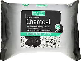 Fragrances, Perfumes, Cosmetics Charcoal Cleansing Facial Wipes - Beauty Formulas Charcoal Detox Facical Wipes
