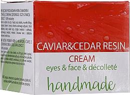 Fragrances, Perfumes, Cosmetics Caviar & Cedar Tree Resin Eye, Face & Decollete Cream - Hristina Cosmetics Handmade Caviar & Cedar Resin Cream