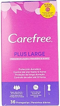 Fragrances, Perfumes, Cosmetics Pantiliners, 36 pcs - Carefree Plus Large Maxi