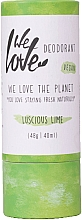 Fragrances, Perfumes, Cosmetics Natural Creamy Deodorant - We Love The Planet Deodorant Luscious Lime