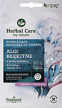 """Fragrances, Perfumes, Cosmetics Facial Mask """"Blue Algae"""" - Farmona Herbal Care Blue Algae Face Mask"""