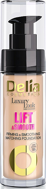 Soothing & Lifting Foundation - Delia Cosmetics Luxury Look Lift & Smooth — photo N1
