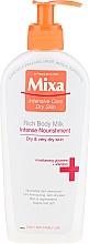Fragrances, Perfumes, Cosmetics Nourishing Body Milk - Mixa Intensive Care Dry Skin Rich Body Milk