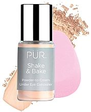 Fragrances, Perfumes, Cosmetics Concealer - Pur Shake & Bake Powder-to-Cream Under Eye Concealer