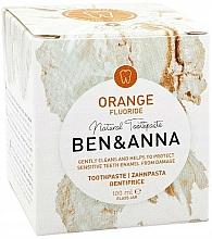 Fragrances, Perfumes, Cosmetics Natural Toothpaste - Ben & Anna Orange Fluoride Toothpaste