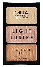 Fragrances, Perfumes, Cosmetics Face Highlighter Palette - MUA Light Lustre Trio Highlight