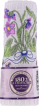 Fragrances, Perfumes, Cosmetics Cotton White Hand Towel with Embroidered Violet Bouquet - Le Chatelard 1802