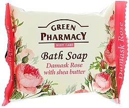 "Fragrances, Perfumes, Cosmetics Soap ""Damask Rose & Shea Butter"" - Green Pharmacy"