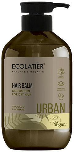"""Nourishing Balm for Dry Hair """"Avocado & Mallow"""" - Ecolatier Urban Hair Balm"""