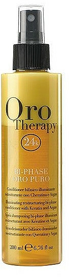Restructuring Bi-Phase Conditioner Spray with Keratin - Fanola Oro Therapy