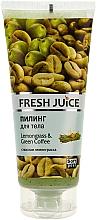 "Fragrances, Perfumes, Cosmetics Body Peeling ""Lemongrass & Green Coffee"" - Fresh Juice Lemongrass Green Coffee"