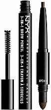 Fragrances, Perfumes, Cosmetics Multifunctional Eyebrow Pencil - NYX Professional Makeup Cosmetics 3-in1 Brow Pencil