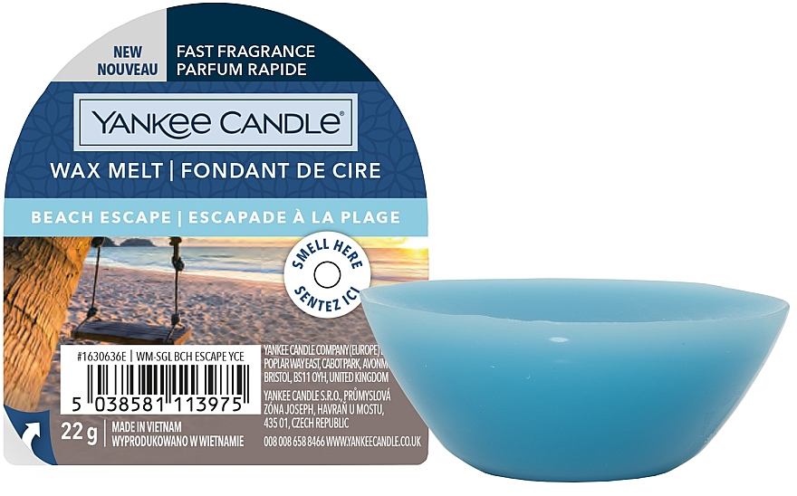 Aromatic Wax - Yankee Candle Wax Melt Beach Escape — photo N1